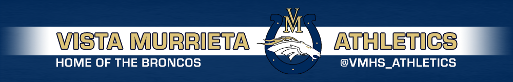 Vista murrieta athletics website header