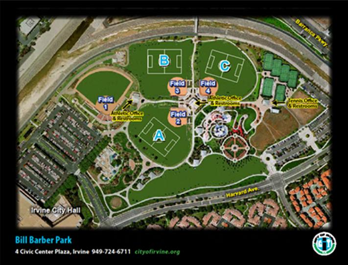 Softball Fields Maps Directions