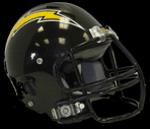 Chargers helmet black bg