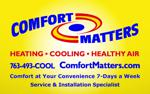 Comfort matters ad board 8 19 14