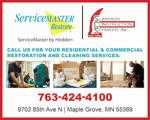 Servicemaster by hedden and superior construction online ad copy