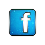 098213 blue chrome rain icon social media logos facebook logo square