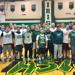 Jim Crawford with former players in December at Irish Alumni Game