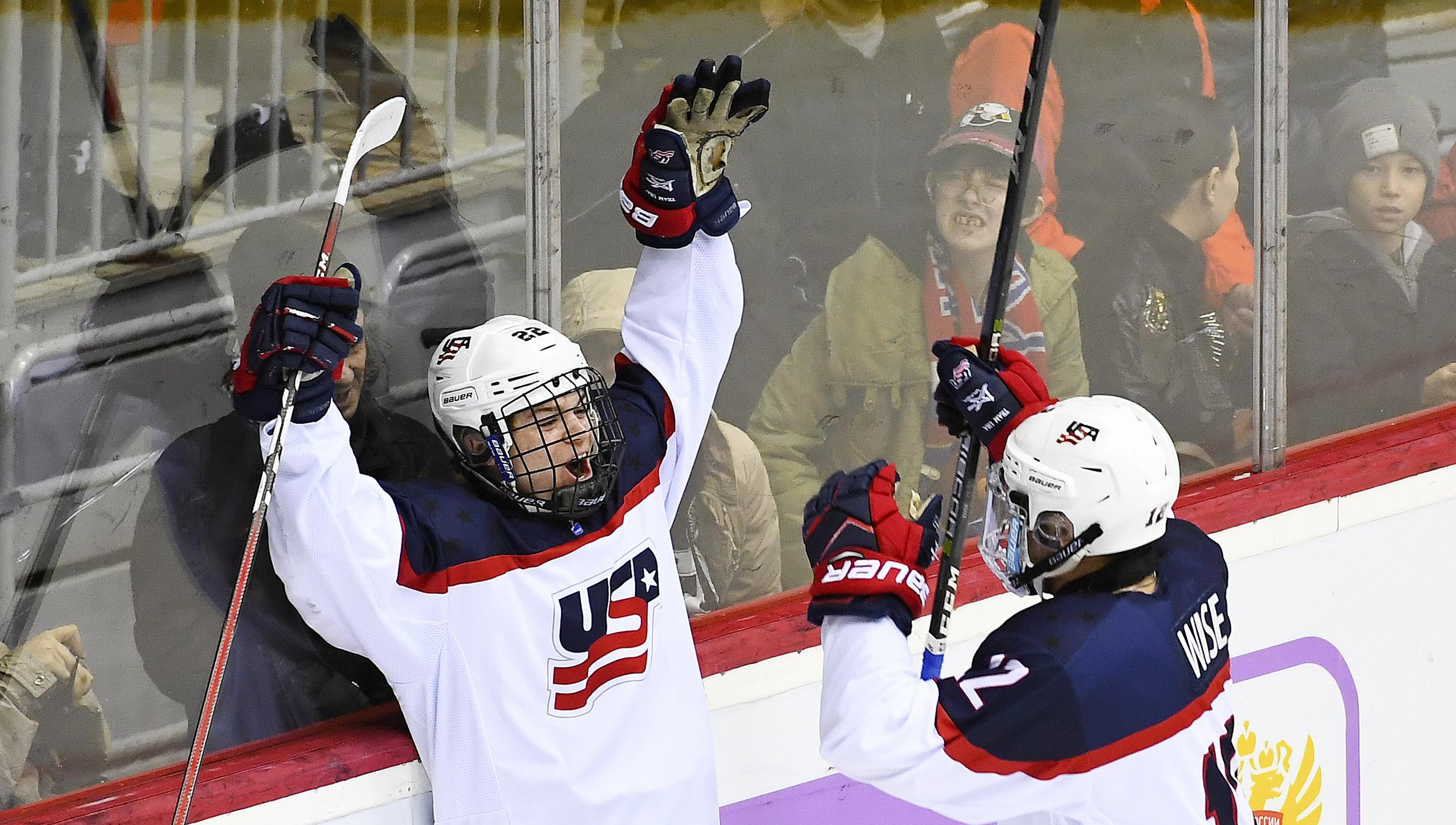 U18 WORLDS: U.S. Skates Past Russia, 5-1, In Quarterfinal