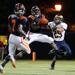 Jamal Baggett intercepts a pass