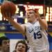 Guerin senior Joe Binkowski goes up for a shot