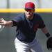 Jason Kipnis tosses a ball to second base
