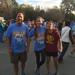 Cross Country runners Peggy Lau, Kelsey & Doug Blough(dad), at Turkey Trot finish line