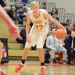 Hunter Kraiza dribbles a basketball