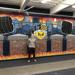 Joseph Richmond '21 stands by his mural