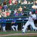 Photo Caption: Conrad Gregor hits during the Boulders' home game against the Trois-Riviѐres Aigles on June 7. Gregor went 2-2 with two walks on Sunday at the Jackals. (Photo Credits: Drew Wohl, Rockland Boulders)