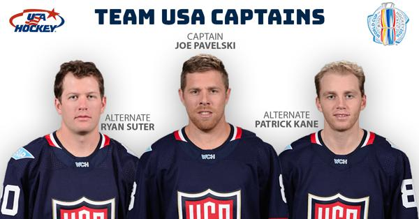 626ae169d Pavelski Named Captain of U.S. World Cup of Hockey Team