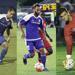 David Estrada, Cody Mizell, and Joel Johnson in action shots