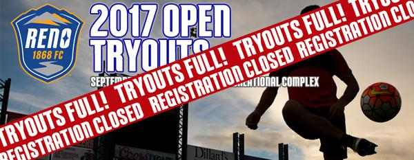 Reno 1868 FC open tryouts set for September 18