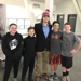 Matt is pictured below with current CKHA players (left to right) Andreah Quammen, Alex Rishel, Cole Bennett, and Logan Richmond