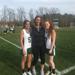 Coach Valore with seniors Ashley Mannion and Arianna Battaglia