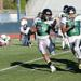 Running Back Dondre Stance puts a move to get open on a big run against the Southern Oregon Renegades.