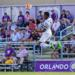 Bilal Duckett heads the ball against Orlando City B