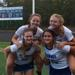 The Shawnee field hockey team supports each other and others: Bottom (L to R) Olivia Drea and Noa Potoczak, top (L to R) Ashley Wetzel and Erica Solomen.