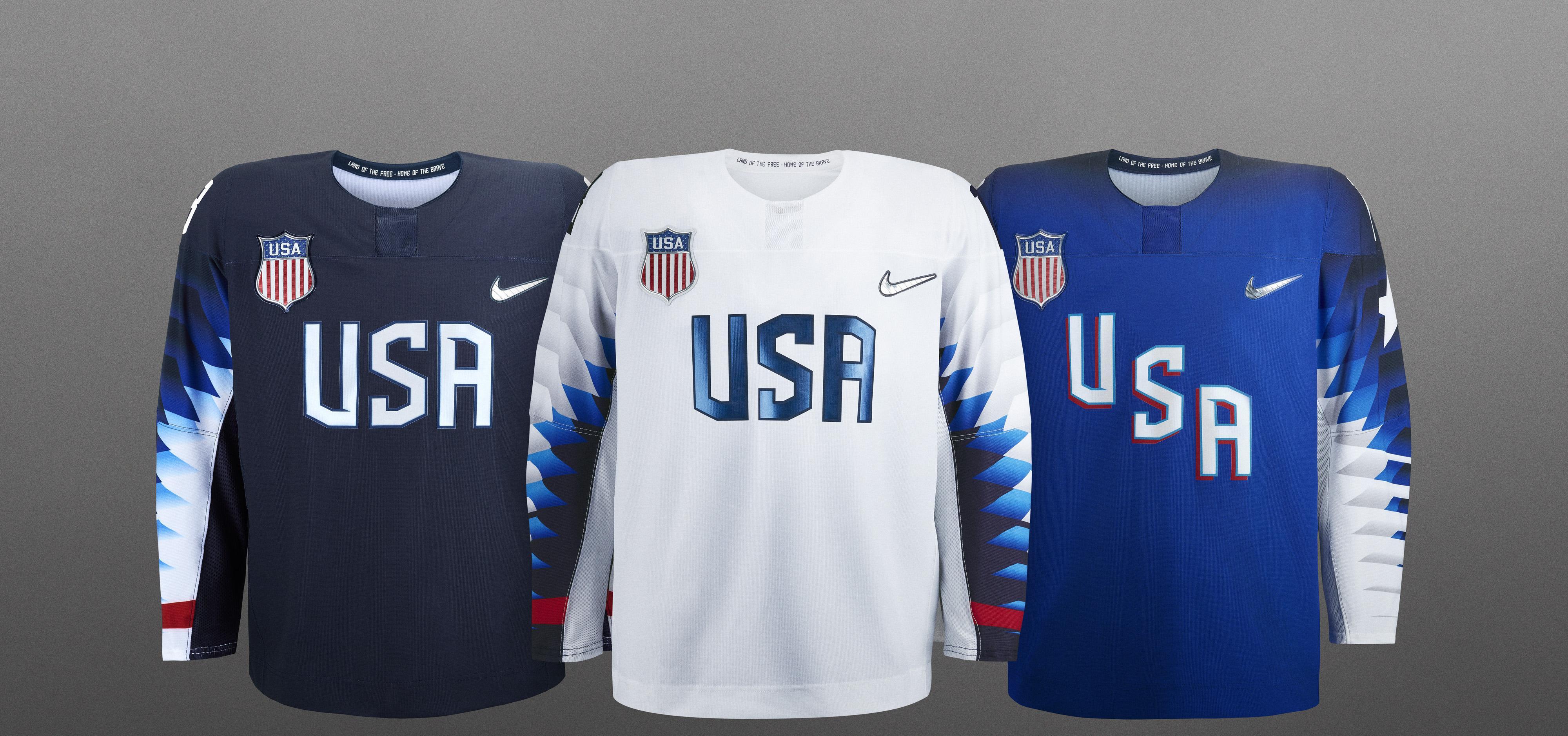 USA Hockey Unveils 2018 Olympic Jerseys  f7698edb225