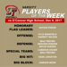 Quarterfinal Playoffs:  Lake Travis Football Players of the Week