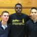 Seniors Jesse Barbera, Onye Okoro and Troy Edwards.