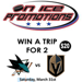 Win a Trip for 2 to watch the Sharks vs Knights in Las Vegas