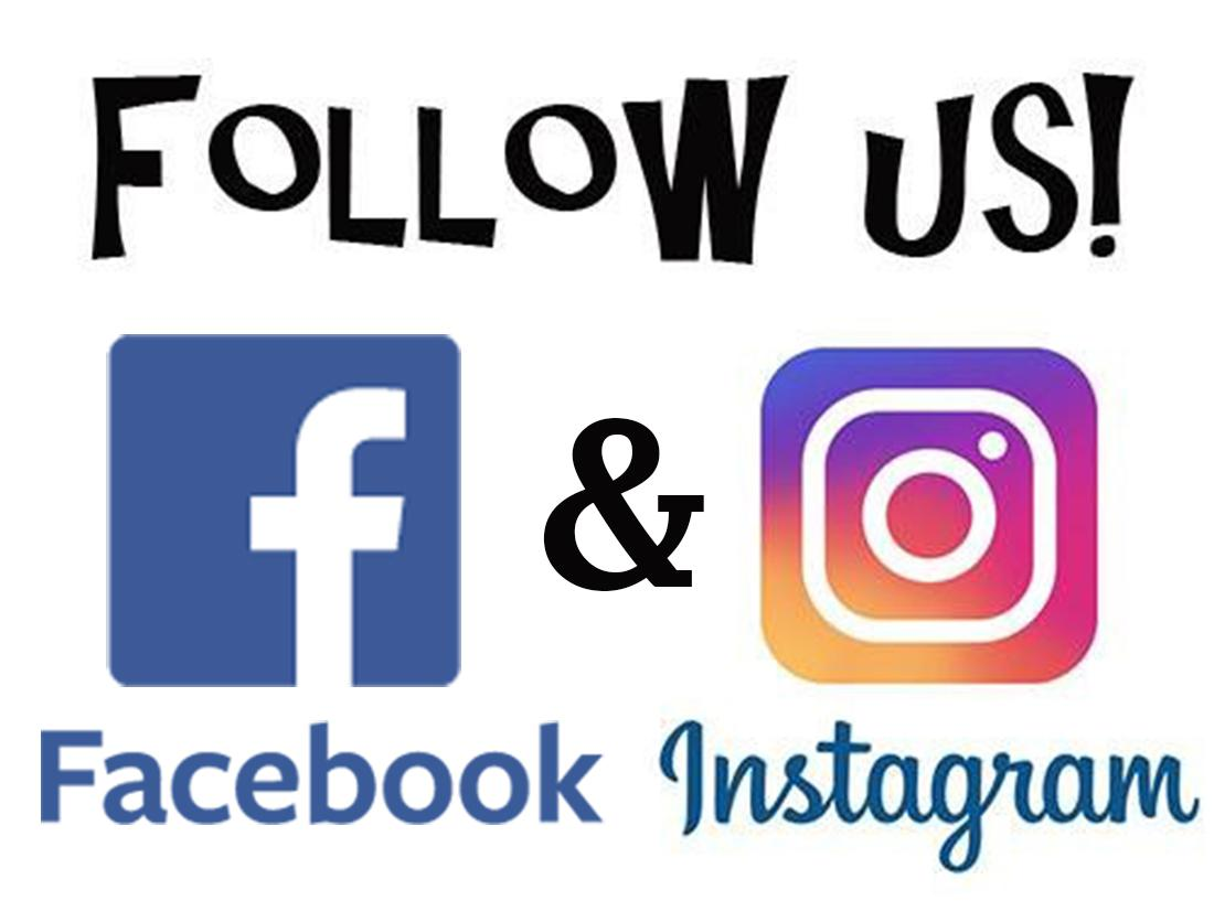 Image result for find us on facebook and instagram