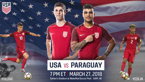 e591f2459a6 North Carolina Football Club to Host U.S. Men s National Team Match Against  Paraguay on Tuesday