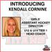 Kendall Cornine named Titans girls' Assistant Hockey Director