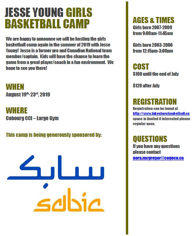 Jesse Young Basketball Camp