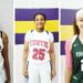#3 Jeriah Warren of LaGrange High School (PC: Bob Corwin), #25 Jerkaila Jordan of John Curtis Christian High School (PC: Bob Corwin), #23 Amoura Graves of Ponchatoula High School (PC: Bob Corwin)