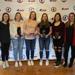 From left to right (Coach Makenna Newkirk, Tessa Janecke, Caroline Harvey, Beth Sinson, Kate Burcham, Coach Toni Miano)
