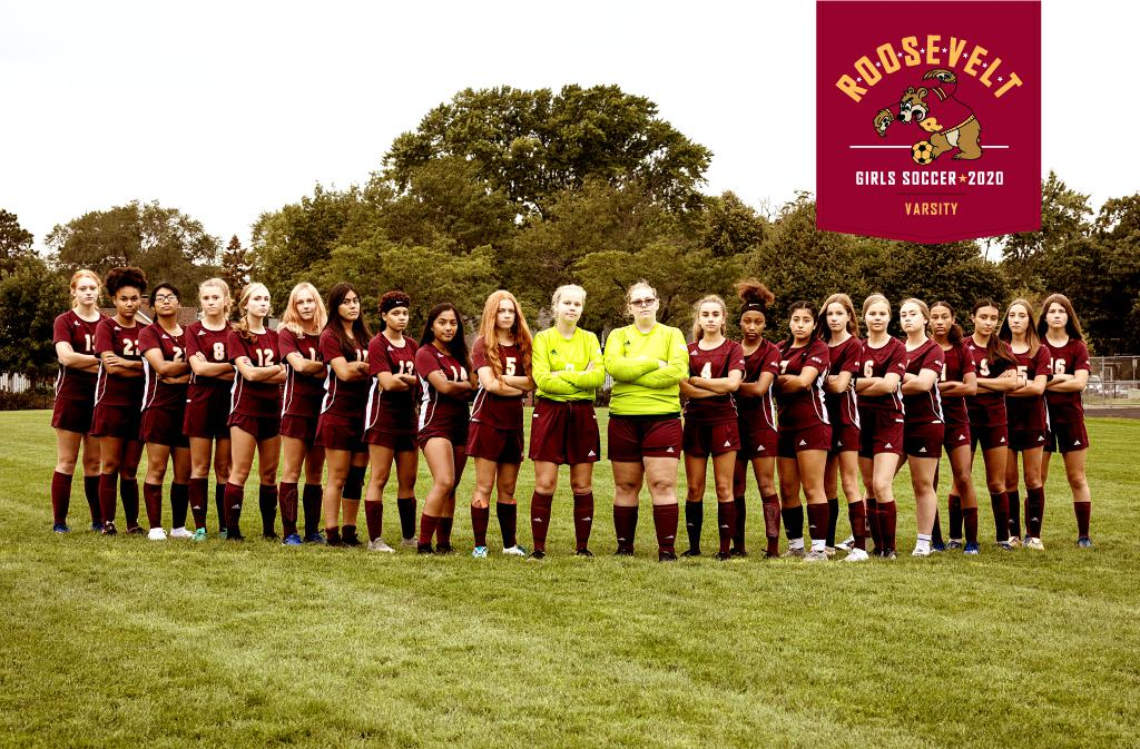 Mineapolis Roosevelt High School Girls Varsity Soccer 2020 at Al Gowans Stadium in South Minneapolis