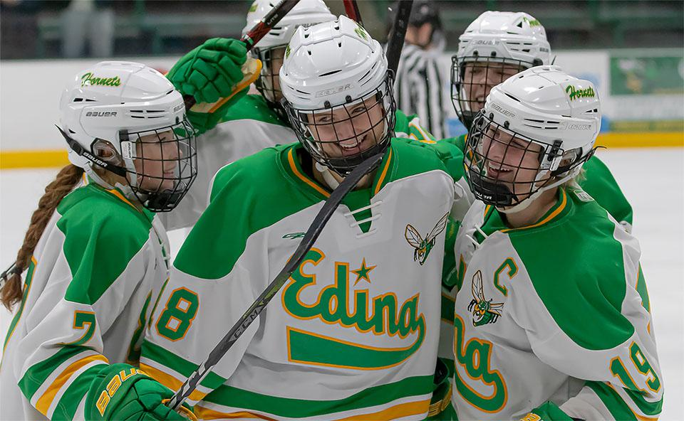 Edina, Class 2A state champion in 2017, 2018 and 2019 and runner-up last year, is off to a dominant start this year. The Hornets face a formidable foe Tuesday in Minnetonka, which has state title aspirations of its own. Photo by Gary Mukai, SportsEngine