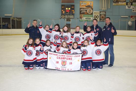 Glenview Stars Grils U10 NIHL Champions!