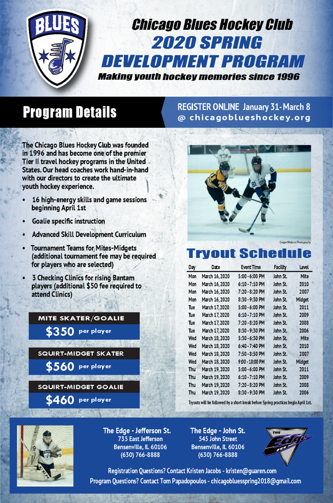 Chicago Blues Spring 2020 Development Program