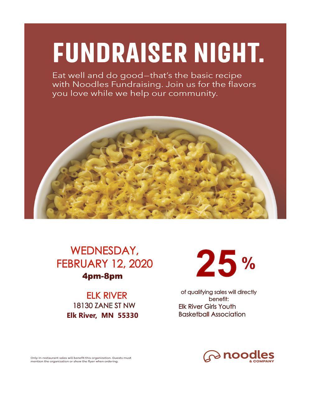 Noodles Fundraiser Flyer
