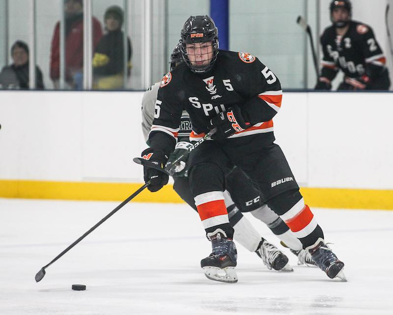 Ethan Frisch, a defeseman from Moorhead, looks at USA Hockey's All-American Prospects Game as an opportunity to display his talent to NHL scouts. Photo by Mark Hvidsten, SportsEngine