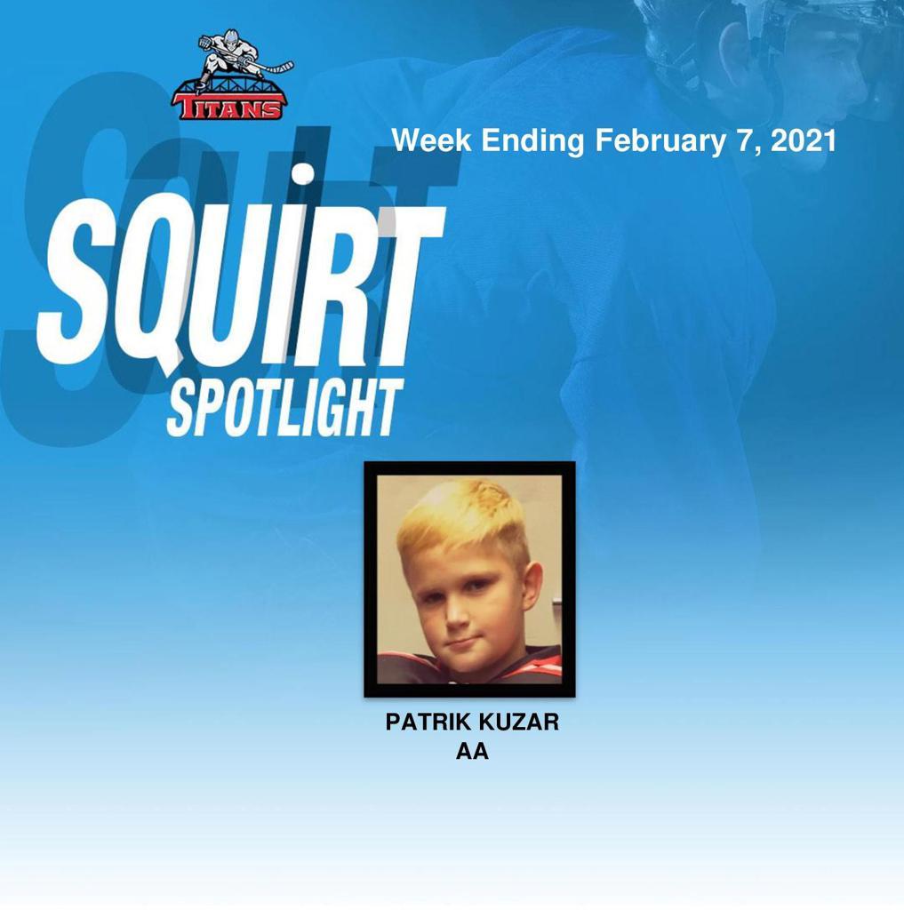 Titans announce Patrik Kuzar at the Squirt Spotlight for week ending February 7