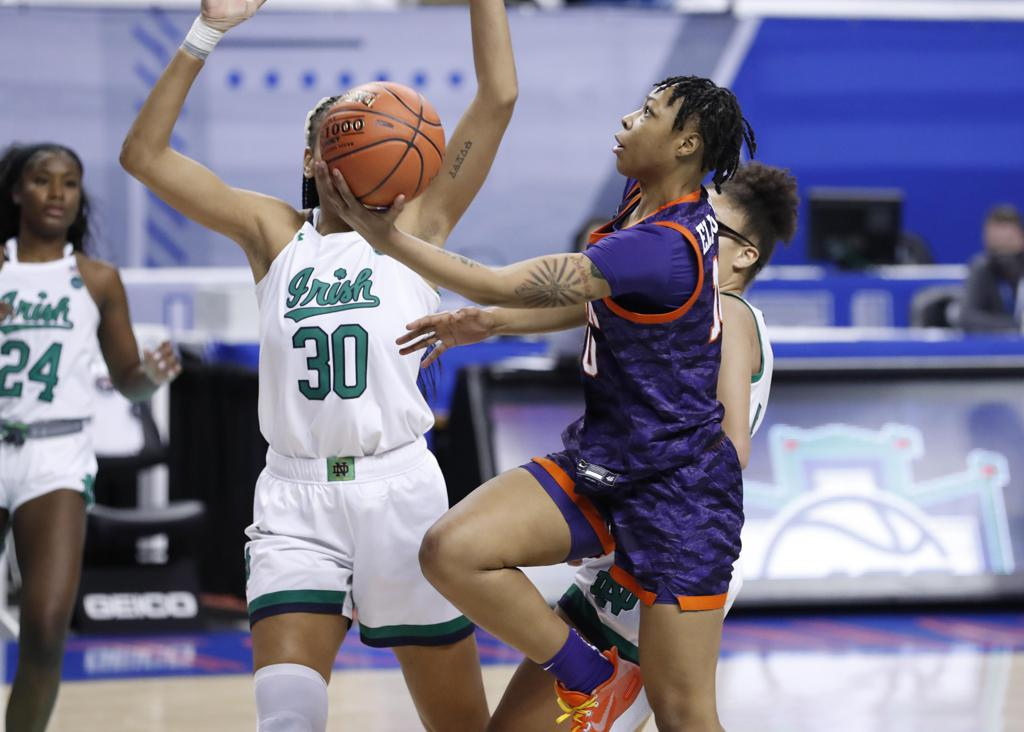 Gabby Elliott had 25 points for Clemson over Notre Dame