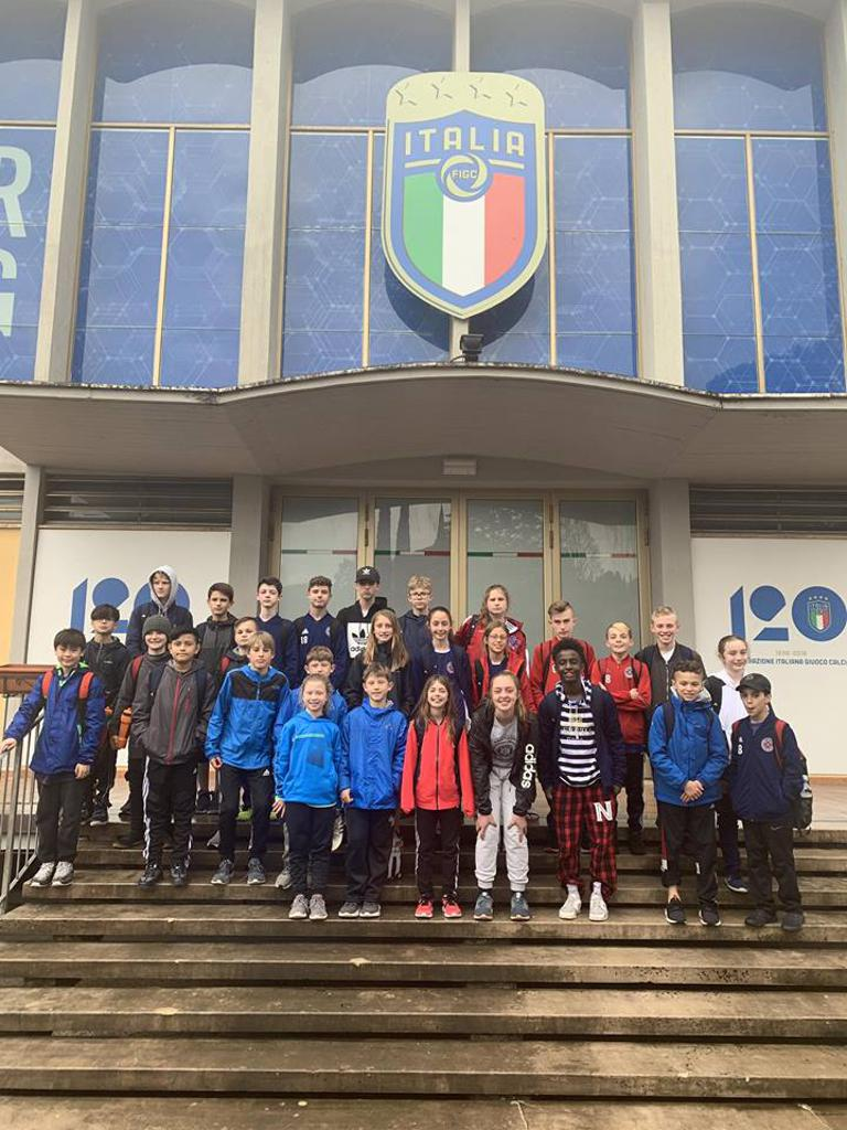 Fire Juniors visit the Coverciano, training ground of Italian National Football Federation