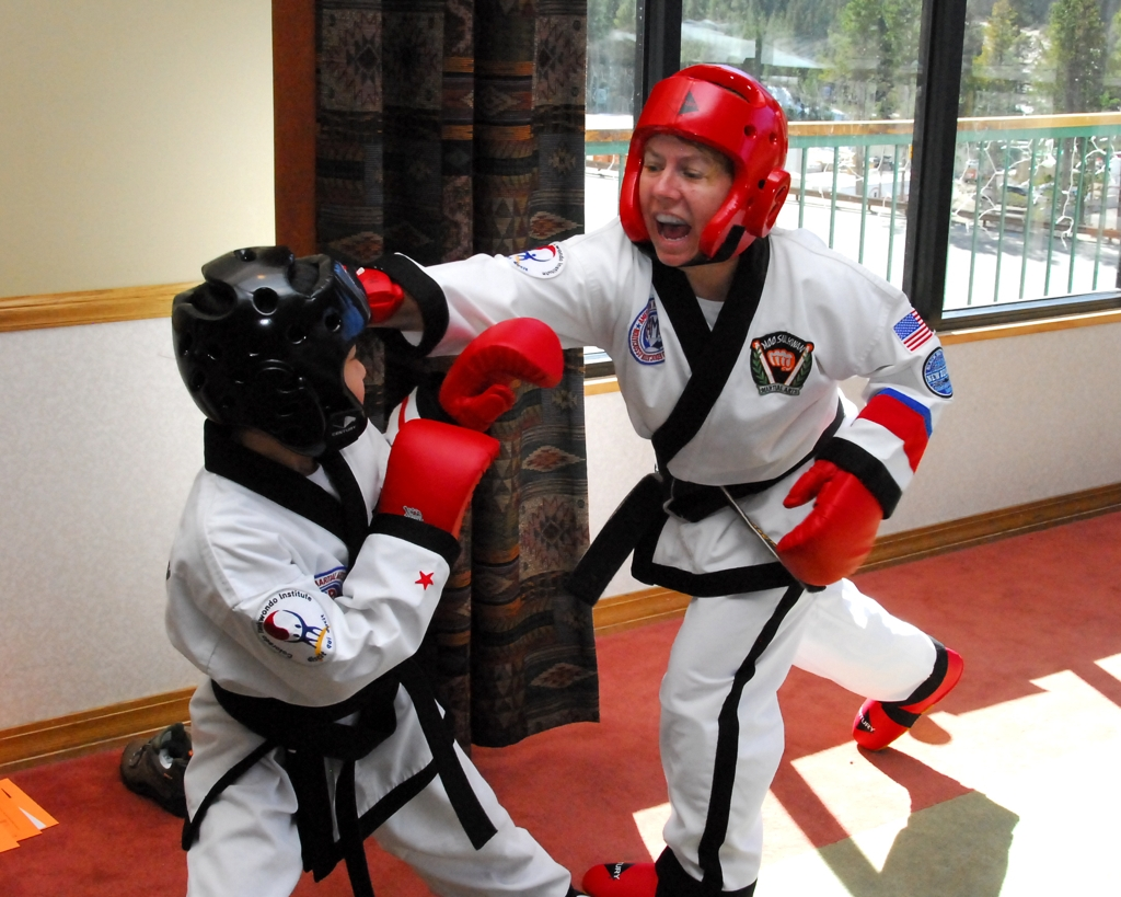 Sparring with child