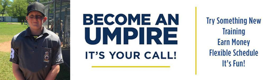 Become and umpire banner