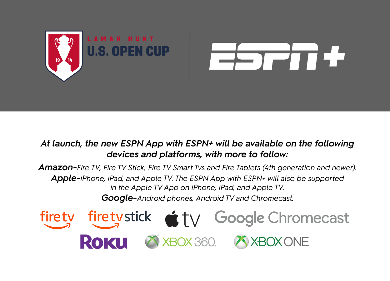 2019 U.S. Open Cup on ESPN+