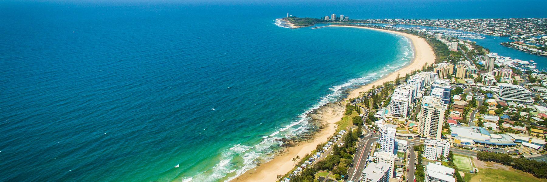 Shoreline of IRONMAN 70.3 Sunshine Coast