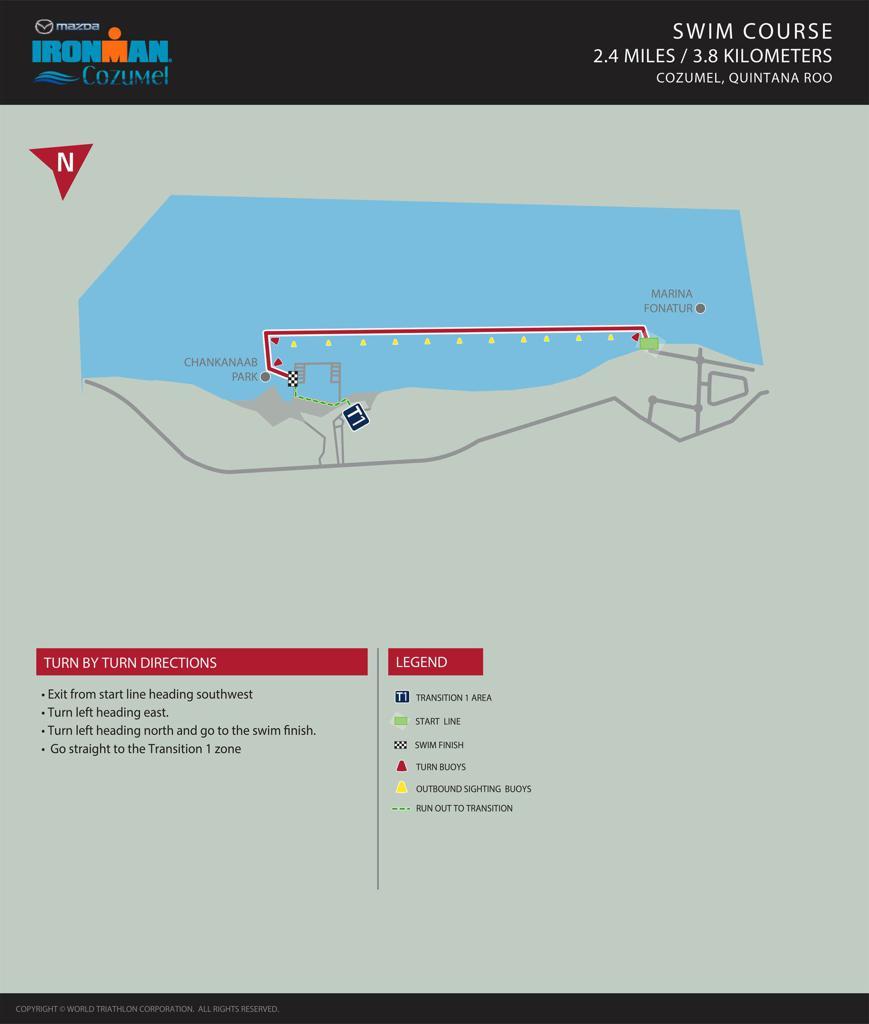 Swim Course Map IM Cozumel