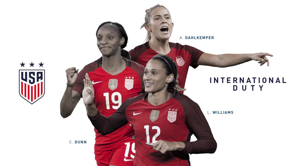 Dunn, Dahlkemper, Williams Called Up to USWNT