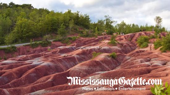 cheltenham badlands in terra cotta and caledon the caldeon badlands and mississauga news and newspaper the mississauga mayor bonnie crombie and insauga.com with Khaled Iwamura
