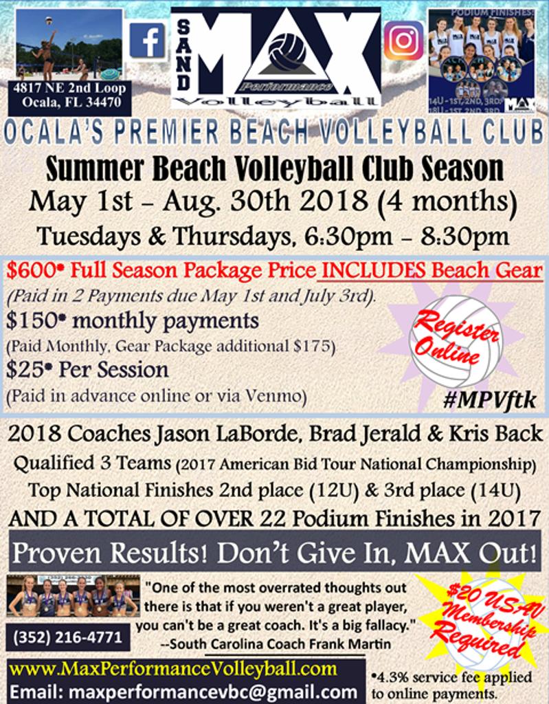 MAX Performance Beach Volleyball Training Program